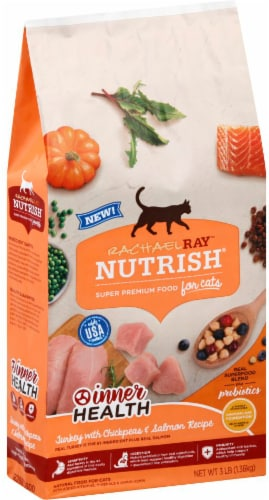 Nutrish Inner Health Turkey with Chickpeas & Salmon Dry Cat Food Perspective: front