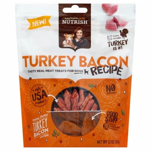 Rachael Ray Nutrish Turkey Bacon Recipe Dog Treats Perspective: front