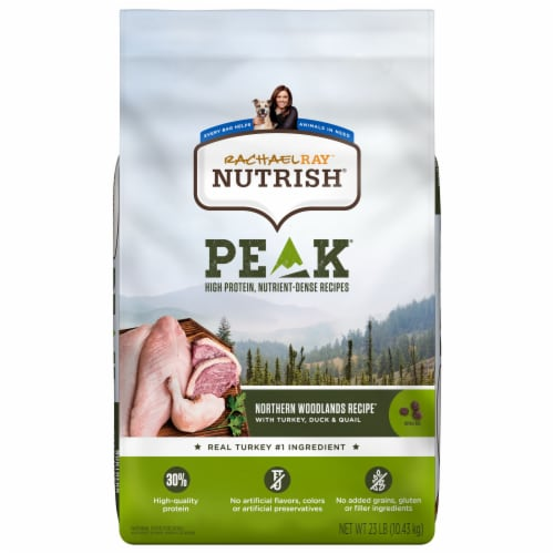 Rachael Ray Nutrish Peak Northern Woodland Turkey and Duck Dry Dog Food Perspective: front