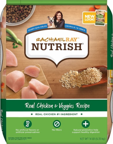 Rachael Ray Nutrish Real Chicken & Veggies Recipe Dry Dog Food Perspective: front