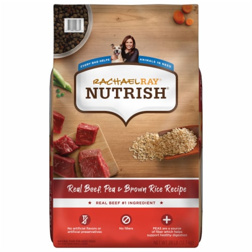Rachael Ray Nutrish Real Beef Pea & Brown Rice Dry Dog Food Perspective: front