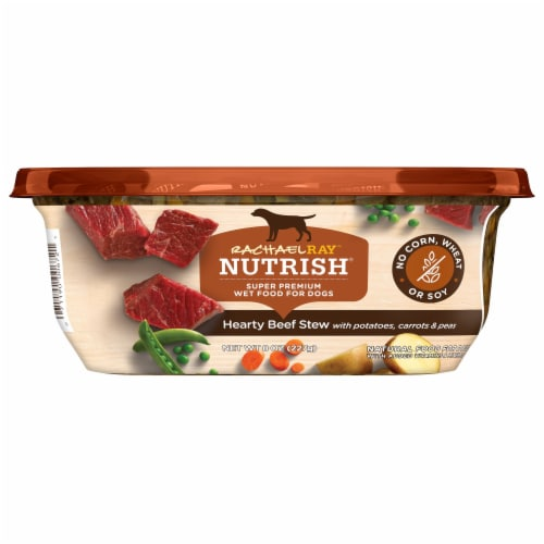 Rachael Ray Nutrish Hearty Beef Stew Recipe Wet Dog Food Perspective: front