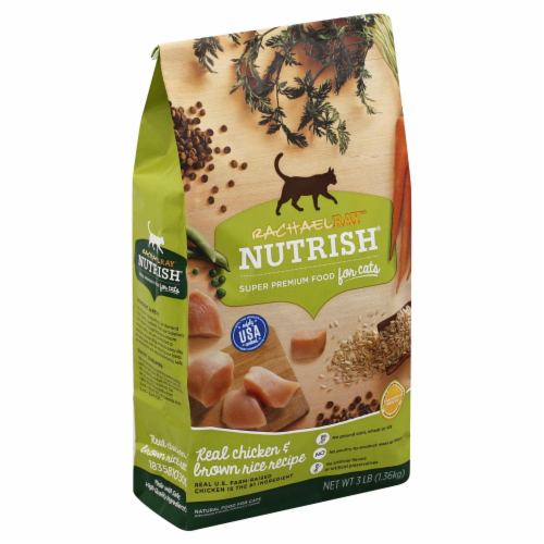 Rachael Ray Nutrish Chicken & Brown Rice Recipe Dry Cat Food Perspective: front