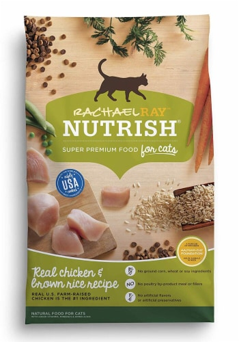 Rachael Ray Nutrish Real Chicken & Brown Rice Recipe Dry Cat Food Perspective: front