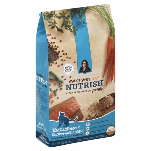 Rachael Ray Nutrish Natural Salmon & Brown Rice Recipe Dry Cat Food Perspective: front