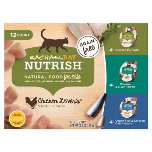Rachael Ray Nutrish Grain-Free Chicken Lovers Wet Cat Food Variety Pack 12 Count Perspective: front