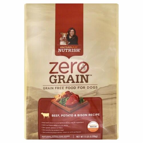 Rachael Ray Nutrish Zero Grain Beef Potato & Bison Recipe Dry Dog Food Perspective: front
