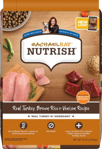 Rachael Ray Nutrish Turkey Brown Rice and Venison Dry Dog Food Perspective: front