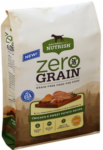Rachael Ray Nutrish Zero Grain Chicken & Sweet Potato Recipe Grain Free Dry Dog Food Perspective: front