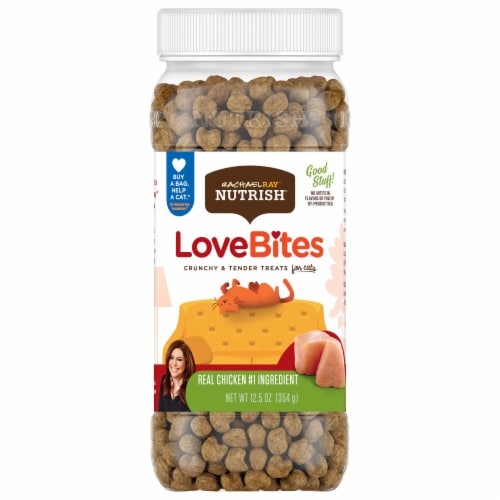 Rachael Ray Nutrish Love Bites Real Chicken Cat Treats Perspective: front