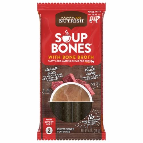 Rachael Ray Nutrish Soup Bones Beef Dog Chew Bones Perspective: front