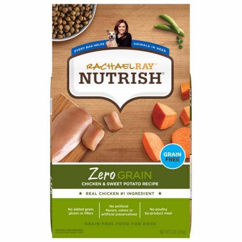 Rachael Ray Nutrish Zero Grain Chicken & Sweet Potato Dry Dog Food Perspective: front