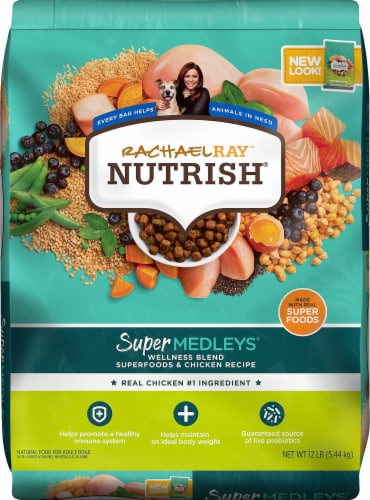 Rachael Ray Nutrish Super Medleys Wellness Blend Superfoods & Chicken Recipe Dry Dog Food Perspective: front