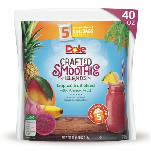 Dole Tropical Fruit Blend Crafted Smoothie Blends Perspective: front