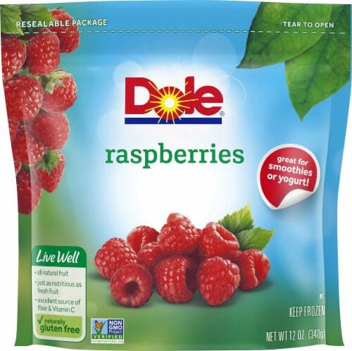 Dole Frozen Raspberries Perspective: front