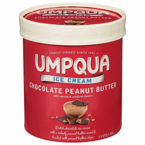Umpqua Chocolate Peanut Butter Ice Cream Perspective: front
