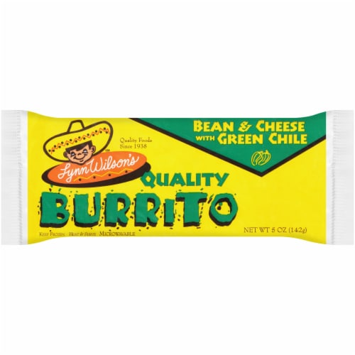 Lynn Wilson's™ Bean & Cheese with Green Chile Burrito Perspective: front