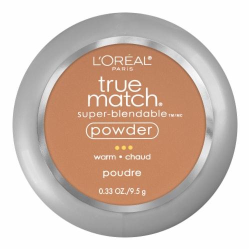 L'Oreal Paris True Match Warm Caramel Beige Super-Blendable Powder Perspective: front