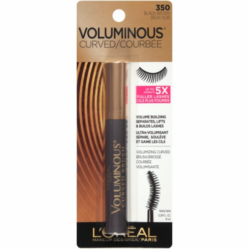 L'Oreal Paris Voluminous Original Black Brown 350 Mascara with Curved Brush Perspective: front
