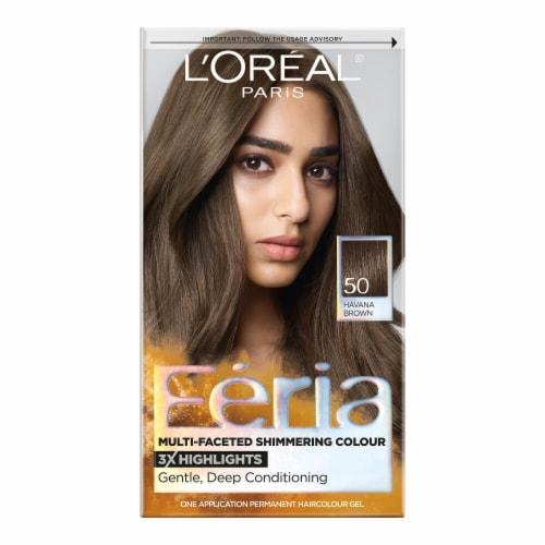 L'Oreal Paris Feria 50 Medium Brown Haircolor Gel Perspective: front