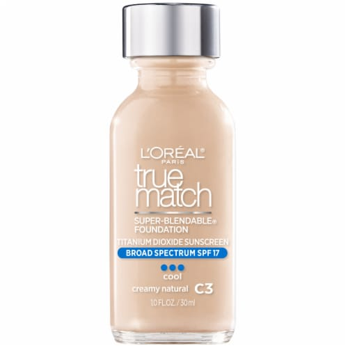L'Oreal Paris True Match Super Blendable C3 Creamy Natural Liquid Foundation Perspective: front