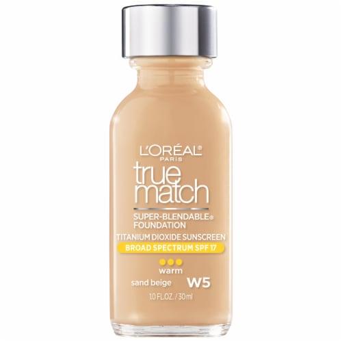 L'Oreal Paris True Match Super Blendable Sand Beige Liquid Foundation Perspective: front