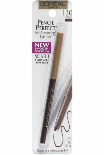 L'Oreal Paris Pencil Perfect Espresso Self Advancing Eyeliner Perspective: front