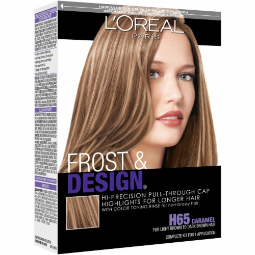 L'Oreal Paris Frost & Design H65 Caramel Hair Color Perspective: front