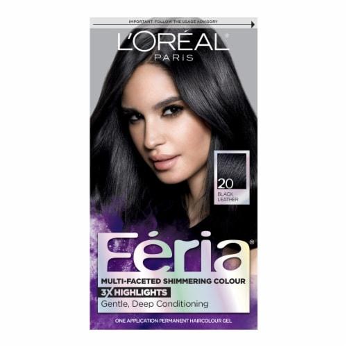 L'Oreal Paris Feria 20 Natural Black Hair Color Perspective: front