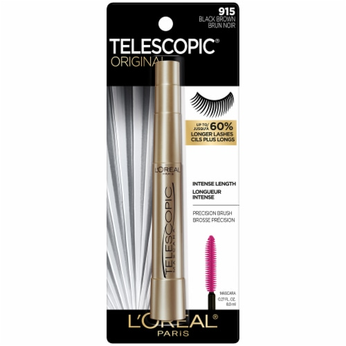 L'Oreal Paris Telescopic 915 Black Brown Lengthening Mascara Perspective: front