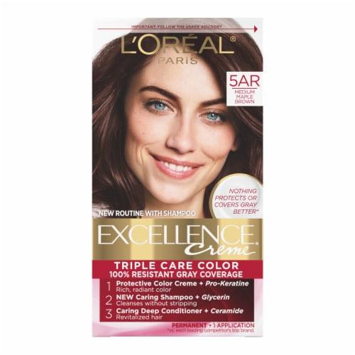L'Oreal Paris Excellence Creme 5AR Medium Maple Brown Hair Color Kit Perspective: front