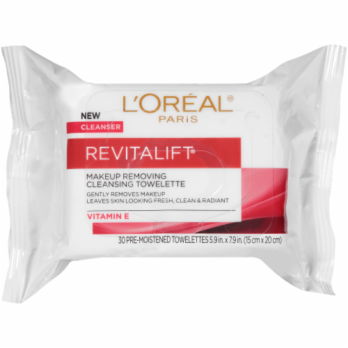 L'Oreal Paris Revitalift Makeup Removing Cleansing Towelettes with Vitamin E Perspective: front