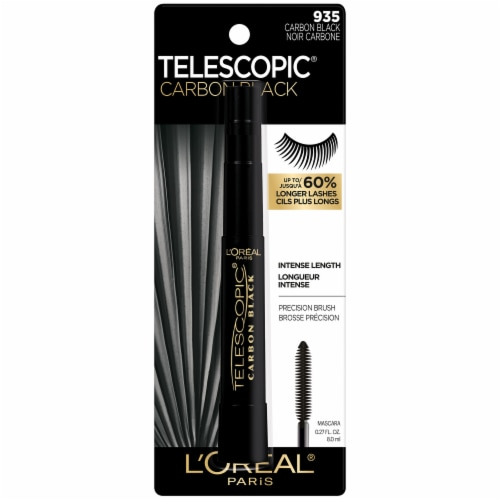 L'Oreal Paris Telescopic 935 Carbon Black Lengthening Mascara Perspective: front