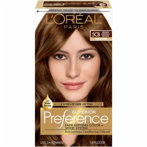 L'Oreal Paris Superior Preference Medium Chestnut Brown 5CB Permanent Hair Color Perspective: front