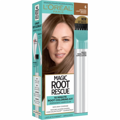 L'Oreal Paris Magic Root Rescue 6 Light Brown Hair Color Perspective: front