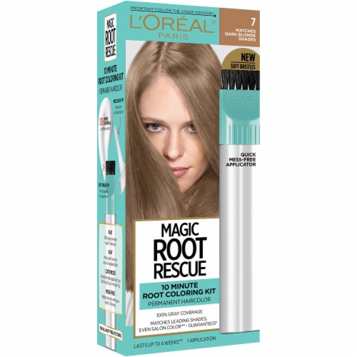 L'Oreal Paris Magic Root Rescue 7 Dark Blonde Hair Color Perspective: front