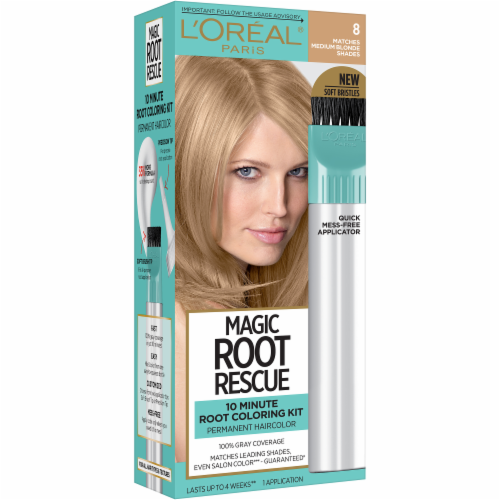 L'Oreal Paris Magic Root Rescue 8 Medium Blonde Hair Color Perspective: front