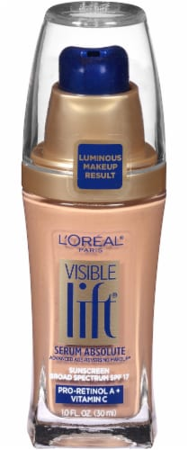 L'Oreal Paris Visible Lift Sand Beige Serum Absolute Foundation Perspective: front