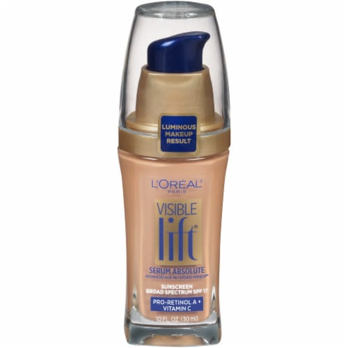 L'Oreal Paris Visible Lift Natural Buff Serum Absolute Foundation Perspective: front
