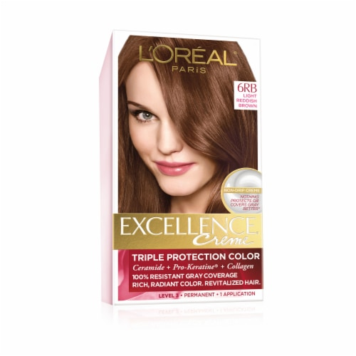 L'Oreal Paris Excellence Creme 6RB Light Reddish Brown Hair Color Perspective: front