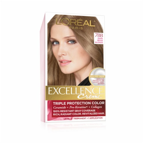 L'Oreal Excellence Dark Beige 7BB Blonde Hair Color Perspective: front