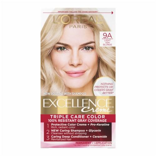 L'Oreal Paris Excellence Creme 9A Light Ash Blonde Hair Color Perspective: front