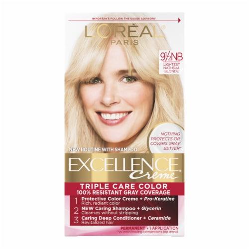 L'Oreal Paris Excellence Creme 9 1/2NB Lightest Natural Blonde Hair Color Perspective: front