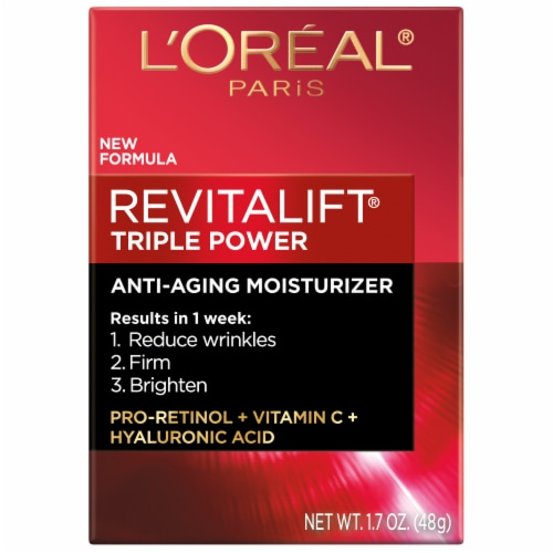 L'Oreal Paris RevitaLift Triple Power Anti-Aging Moisturizer Perspective: front