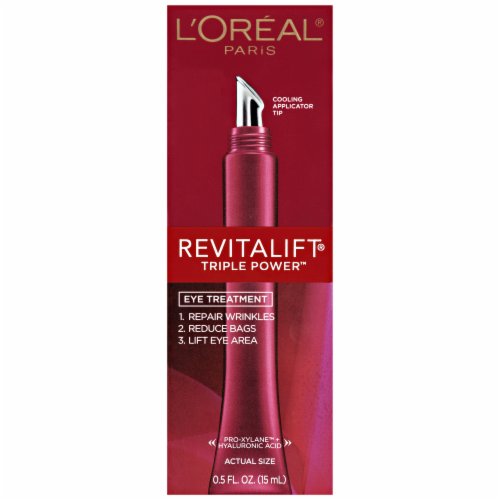 L'Oreal Paris RevitaLift Triple Power Anti-Aging Eye Cream Perspective: front