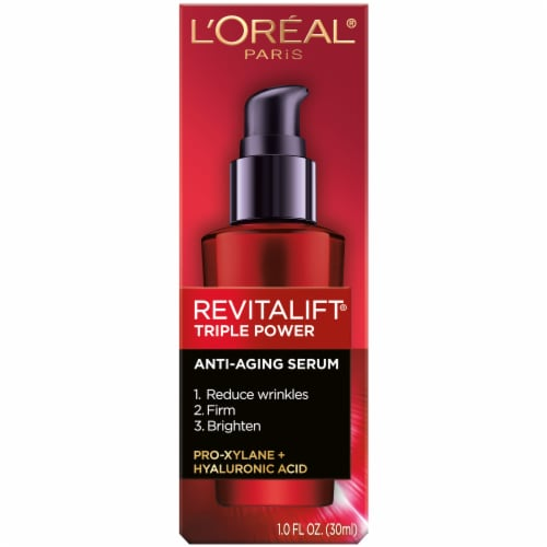 L'Oreal Paris Revitalift Triple Power Concentrated Serum Treatment Perspective: front