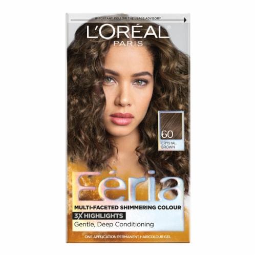 L'Oreal Paris Feria 60 Light Brown Permanent Hair Color Gel Kit Perspective: front