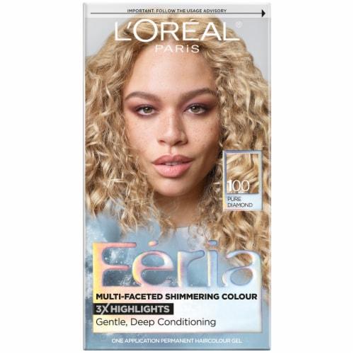 L'Oreal Paris Feria 100 Very Light Natural Blonde Permanent Hair Color Gel Perspective: front