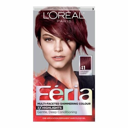 L'Oreal Paris Feria Rich Mahogany 41 Hair Colour Gel Perspective: front
