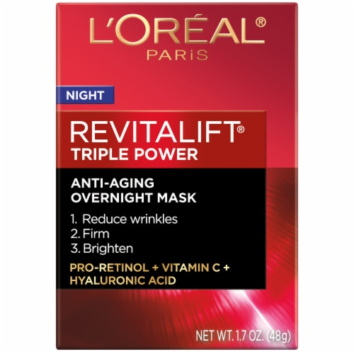 L'Oreal Paris RevitaLift Triple Power Intensive Overnight Mask Perspective: front